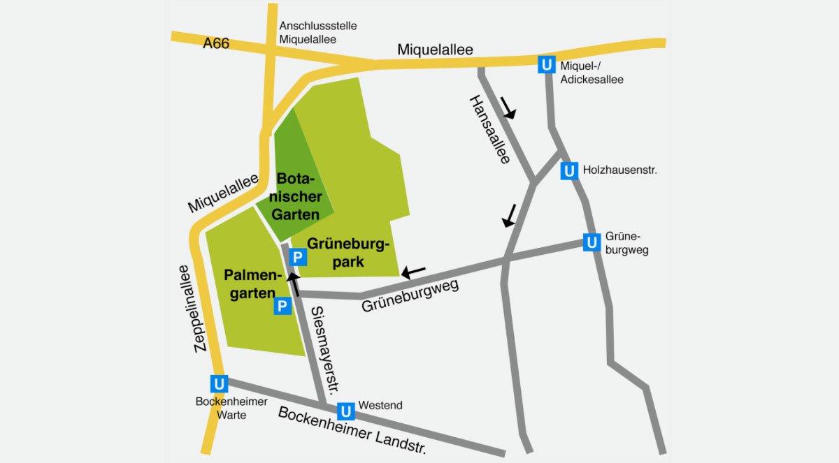 Besucherinformationen Botanischer Garten Frankfurt